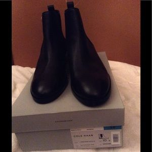 cole haan landsman ii leather bootie in black